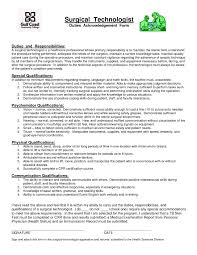 Surgical Tech Resume No Experience Lovely Surgical Tech Resume Sample