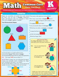 Math Common Core State Standard Bar Chart For Kindergarten