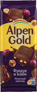 Плиточный <b>шоколад Alpen Gold</b>