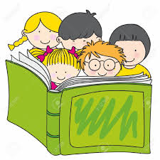 12352600 children reading a book stock vector cartoon book books organisation for early literacy promotion