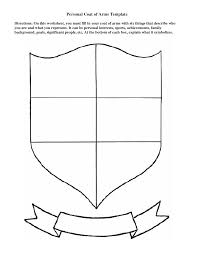 Design A Coat Of Arms Worksheet Personal Coat Of Arms Template Coat Of Arms Shield