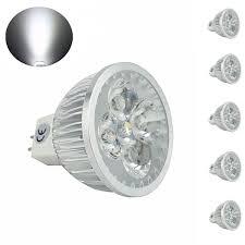 bonlux 5 pack mr16 gu5 3 led bulb 120 volts daylight 6000k g5 mr16 led bulbstrack lightin lightslight