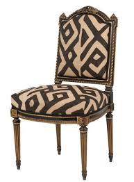 kuba cloth upholstered dining chairs