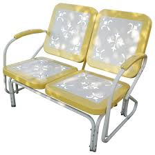 eclectic outdoor furniture. Perfect Eclectic All Products  Outdoor Furniture Metal Retro Glider Yellow For Eclectic Furniture T