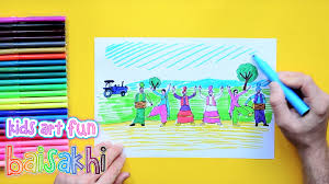 Baisakhi Chart Ideas How To Draw And Color Baisakhi Festival Baisakhi Festival