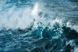Ocean Wave Background Big Stormy Ocean Wave Blue Water Background Stock Photo Picture