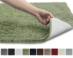 chenille bathroom area rug on