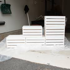 you can figure out areas that will be covered up and do not need to be painted for example you may choose not to paint the insides of the crates