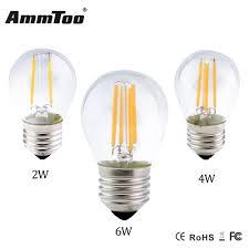 Us 175 17 Offfactory Price Led Lamp E27 Led Filament Light Retro Led Edison Bulb G45 2w 4w 6w Ac110v 220v Clear Glass Shell E27 Dimmable Lamp In