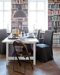 henriksdal chair cover long loose fit urban cal dining roomsdining