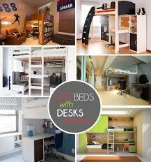 Cheap bunk beds with desks Loft View In Gallery Loft Beds With Desks Underneath Decoist Loft Beds With Desks Underneath 30 Design Ideas With Enigmatic Touch