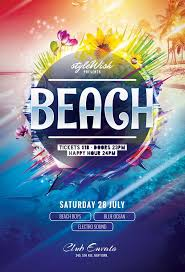 Beach Flyer Beach Flyer By Stylewish Download Psd File 6 Flyer Flyer