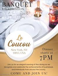Banquet Dinner Event Diy Invitation Template Banquet Invitation