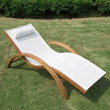 wooden patio chaise lounge chair outdoor furniture pool