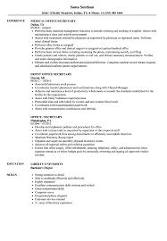 Office Job Resume Sample Office Secretary Resume Sample Secretary Resume Examples