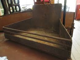 vintage metal fireplace open fire place grate for log farmhouse heavy duty 33kg