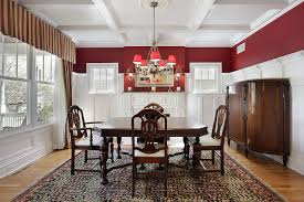 red room furniture. Dining Room With White And Red Walls, Ceiling, Wood Floor Large Rug Furniture