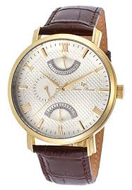 lucien piccard mens watches uk watches store part 2 lucien piccard men s verona 44mm brown genuine leather band steel case quartz watch 10340 yg