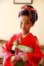 七五三 七歳 和風髪型 着付け 新日本髪 さくら市 美容室エスポワール