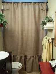 ruffled bottom burlap shower curtain from simply french market interior of linen ruffle shower curtain