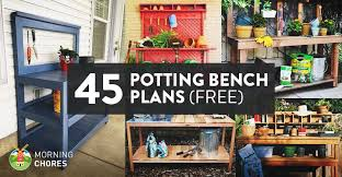 Potting Bench With Hidden Wash Tubcould Also Be Used To Ice Plans For A Potting Bench