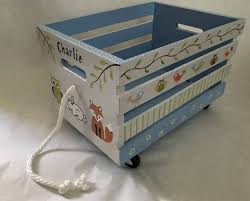painted kids furniture. Woodlands Toy Box Crate, Book Hand Painted Kids Furniture, Furniture