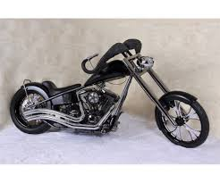 black nasty custom harley davidson exotic theme wildlife chopper
