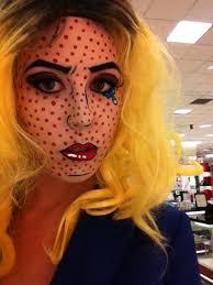 pop art makeup tutorial ic book pop art costume roy lichtenstein costume
