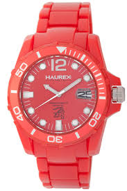 haurex men s watches 59 for a haurex men s watch in caimano a red plastic band and red dial r7354urr 475 list price