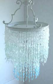 sea glass chandelier beach lighting for regarding gallery diy