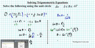 solving trigonometric equations unit circle how to trigonometry algebra 2 you