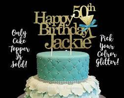 50th Birthday Cake Topper Etsy