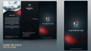 Design Dark Tri Fold Brochure Cover Photoshop Tutorial Youtube