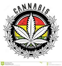 Weed Designs Marijuana And Weed Leaf Logo Design Stock Illustration