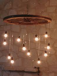 back to wagon wheel chandelier ideas