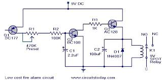 low cost fire alarm circuit working circuit scematic fire alarrm circuit jpg