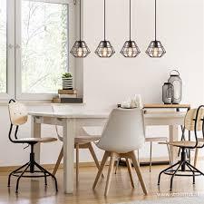 Moderne Draad Hanglamp Eettafel Zwart Straluma