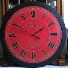 Vintage Large Red Oval Clock