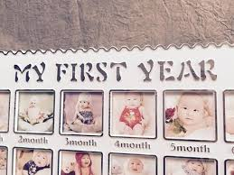 baby s first year 12 months month frame set table hanging