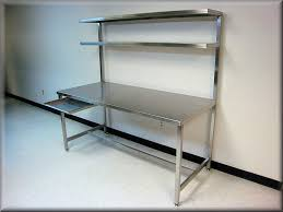 stainless steel table with upper shelf stainless steel work bench stainless steel work bench stainless steel tech bench