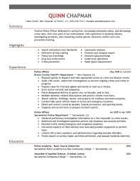 Resume Examples Law Enforcement Enforcement Examples Resume