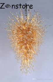 large luxury golden blown glass chandelier foryer home hotel lobby decoration art glass led bulbs chandelier pendant ceiling pendants modern pendant light