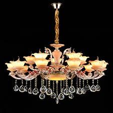 qingming chandelier uplight zinc alloy metal glass crystal mini style 110 120v