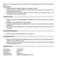 Marketing Experience Resume Sales And Marketing Resume Sample For 2 Years Experience