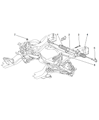 2000 dodge durango gear power steering rack pinion diagram 00i56283