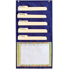 Carson Dellosa Scheduling Pocket Chart Weekly Organizer Pocket Chart