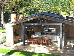 Backyard Kitchen Rustic Backyard Kitchen Backyard Landscaping Photo Gallery
