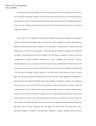 psychology essay psychology essay do thi phuong dung class 11bsm4 learning is a permanent change in human