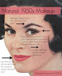 authentic natural 1950s makeup history and tutorial