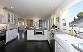 modern white kitchens with dark wood floors. Perfect Kitchens Charming Modern White Kitchens With Dark Wood Floors In Exterior Home  Painting Plans Free Bedroom Gallery And T